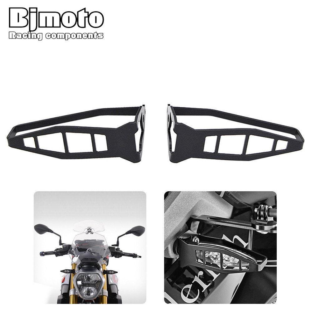 BJMOTO Motorcycle Front Turn Signal Light Cover Guard Indicator Protector For BMW R1200 GS S1000RR F700 GS F800 S1000R R nine T