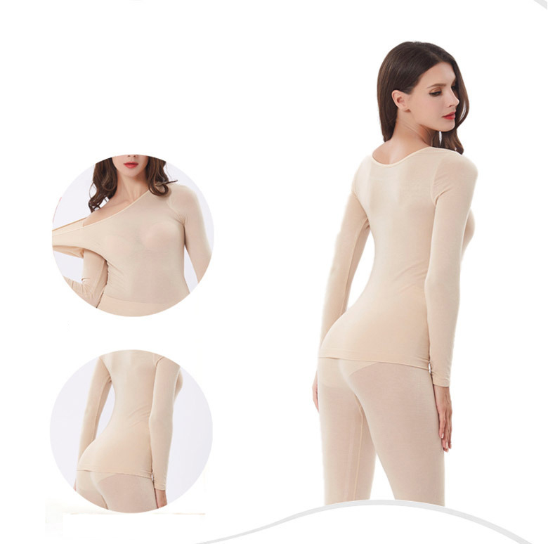3Pcslot Thermal Underwear For Women Warm Long Johns Sexy Seamless Winter Thermal Underwear Set Thermos Intimates Women 21