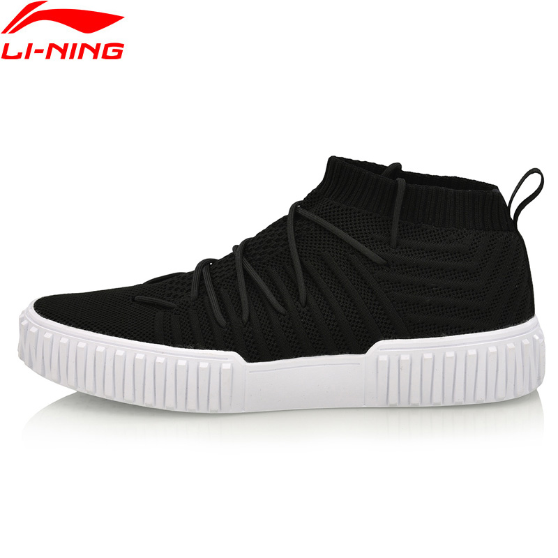 Li Ning Men FLIPER HI Walking Shoes Mono Yarn Wearable Stylish LiNing Sports Shoes Fitness Sneakers AGLN159 SJAS18-in Walking Shoes from Sports & Entertainment    1