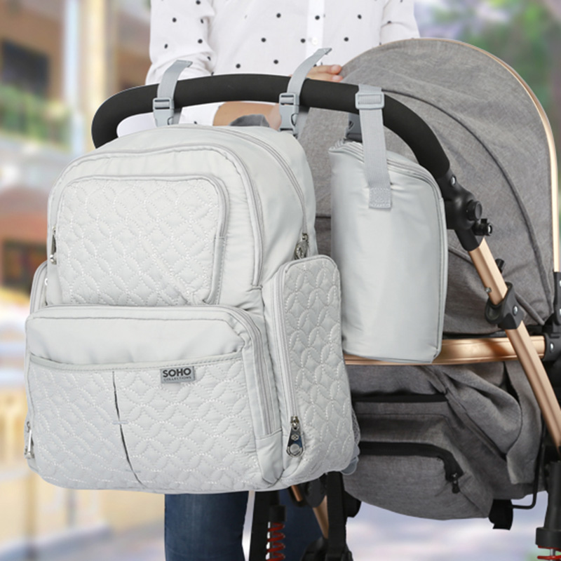 5 Pcs Baby Diaper Bag Large Capacity Baby Care Nappy Bags Multifunction Stroller Hang Tote Mummy Nylon Backpack Mochila BB6029 (2)