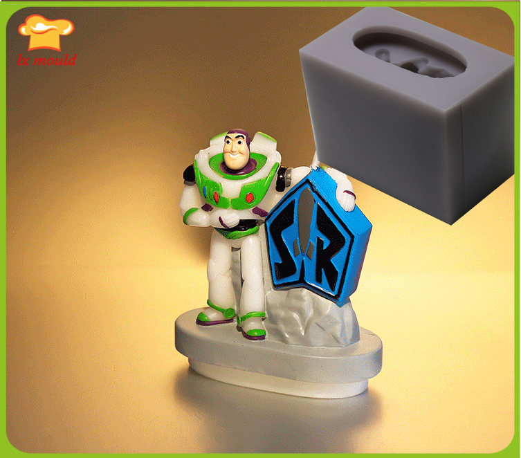LXYY MOULD Toy Story Buzz Light Year Cartoon Birthday Candle Silicone Mold Festival Party Candle Tool