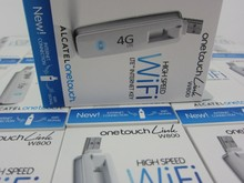 Открыл Alcatel w800 w800o 100 Мбит/с 4 г LTE и 3G USB 10 Wi-Fi Беспроводной модем ключ для автомобиля Зарядное устройство PK e8278 e8372