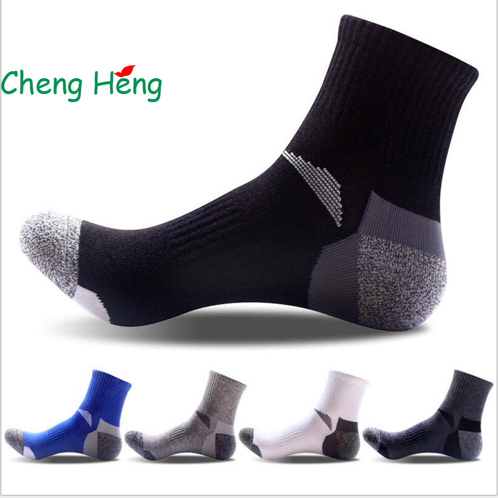 CHENG HENG 5 Pairs / Bag New Fashion Mens Socks Summer Fall Casual Cotton Socks Stitching Socks Men Middle Tube Socks 5 Colors