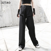 XITAO Sheath Chiffon Bandage Jumpsuit Women Korea Fashion 2019 Wild Joker Elegant Slim Autumn Full Length Jumpsuits ZLL4202