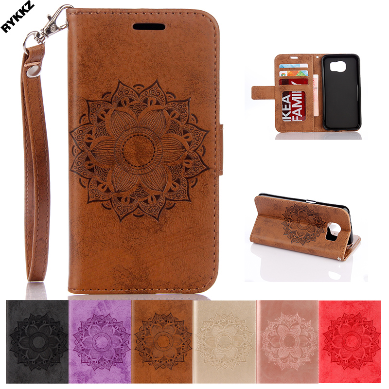 Phone Leather case for Samsung Galaxy s6 zero F G920 SM-G920F G920FD Flip Phone Cover for samsung S 6 Silicone mobile phone bag