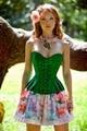 Colorida borboleta nó espírito sexy corset mulheres mostram figura encantadora cuidado materno espartilho espartilho Gótico espartilho