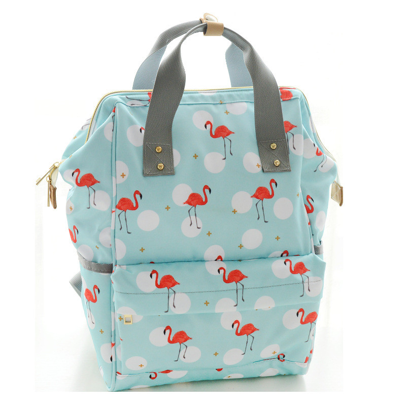 2018 Fashion Cute printing women backpack multifunction large capacity Mummy Bag portable backpack waterproof travel backpack fashion 15 6 inch waterproof fabric women backpack pink cute sushi cuisine pattern printing large capacity girls bookbags