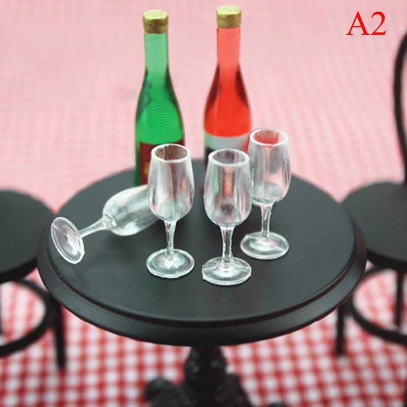 4 قطعة 1/12 صغيرة الراتنج كأس شفاف محاكاة الأثاث نموذج لعب للديكور دمية مصغرة الملحقات 20 أنماط