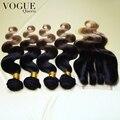 3 tom # 1b / # 4 / # 27 Ombre cabelo brasileiro com fecho, 100% não transformados virgem cabelo, 4 pcs Bundles & 1 pc Lace encerramento, Melhor Vender