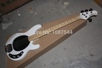 Top Selling white Music Man 4 Strings StingRey Bass Guitar from Chinese Music Instrument Factory