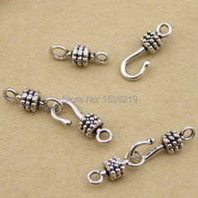 20sets/lot 6x17mm Antique Silver Color Clasps Hooks Bracelet
