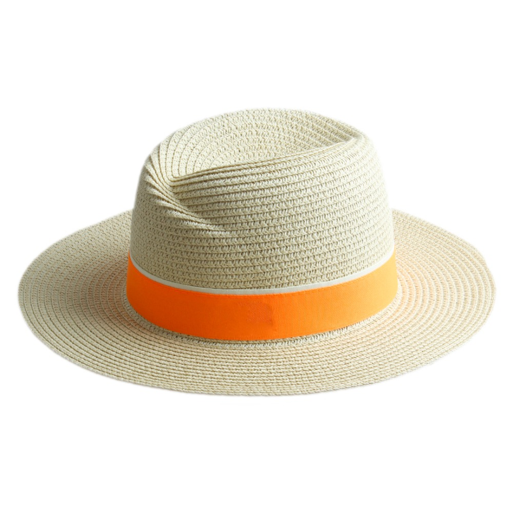 b36da5b9957 Fashion Women Straw Wide Brim Sun hat Woman Summer Fedora Cap Sunhat Trilby  panama Hat Gangster sombrero Cap Free Shipping 20-in Sun Hats from Women s  ...