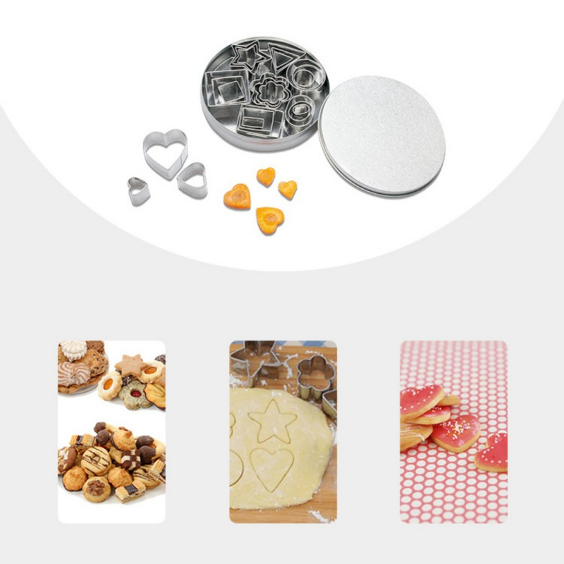 24 Pcs/set Cookie Cutter Stainless Steel Fondant Baking Mold Forms Flower Number Shape Biscuit Decorating Moulds Cookie Tools