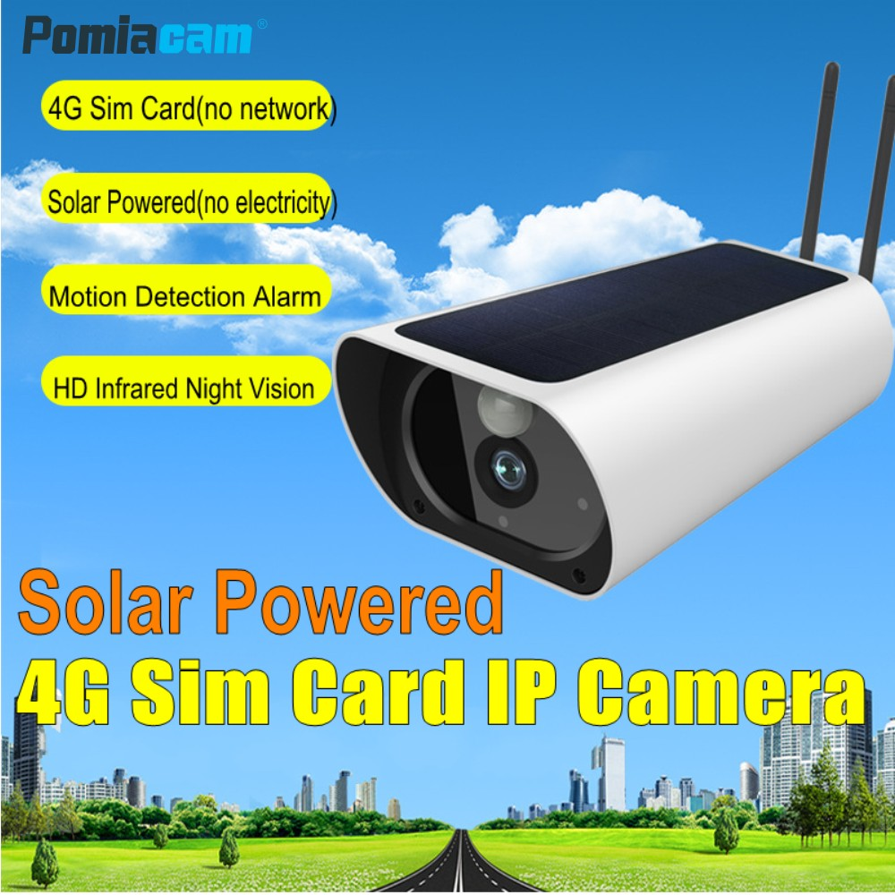 Newest 4G Solar Powered Wireless IP Camera Y9 FullHD 1080P Outdoor Waterproof Bullet IP Camera with