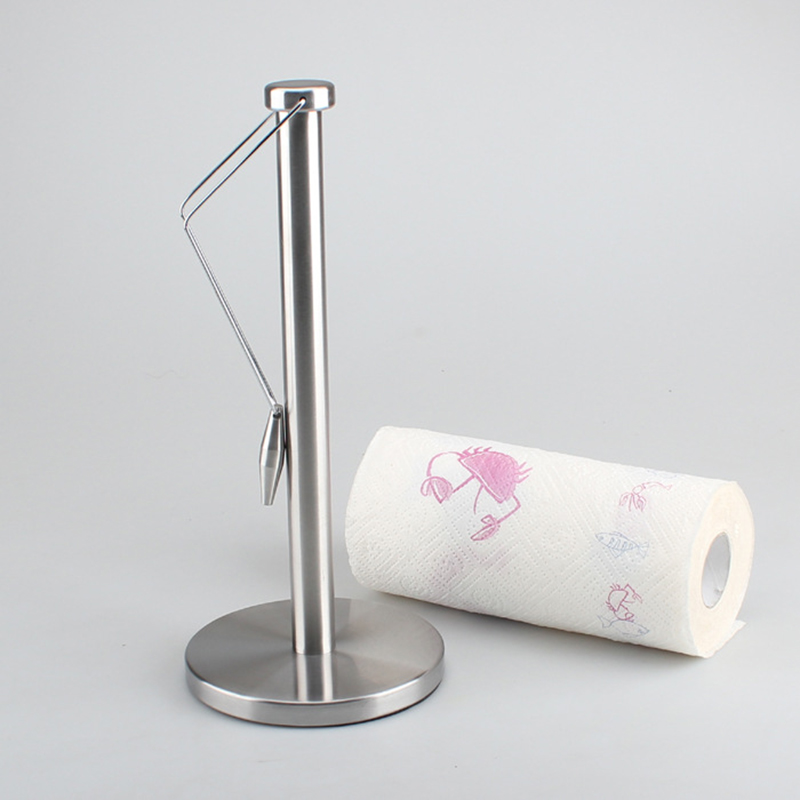New Paper Towel Holder Stainless Steel Paper Towel Holder With Non-Slip Mat Fits Standard And Jumbo-Sized Rolls For Kitchen