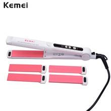 5 Files 3-In-1 Tourmaline Ceramic Hair Curler Straightener + Hair Corn Curling Iron +Hair Straightener Styling Tool HS70WQ A3940