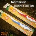 Importado ultrafino cepillo de dientes nano peces de piel de oro y plata 4 unids oral de limpieza super suave