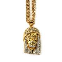 NYUK Heißer Verkauf Beste Freunde Für Immer Geschenke Fashion Bold Halsketten Jesus Halskette Herren Gold Halskette Kette Christus Bling Kette
