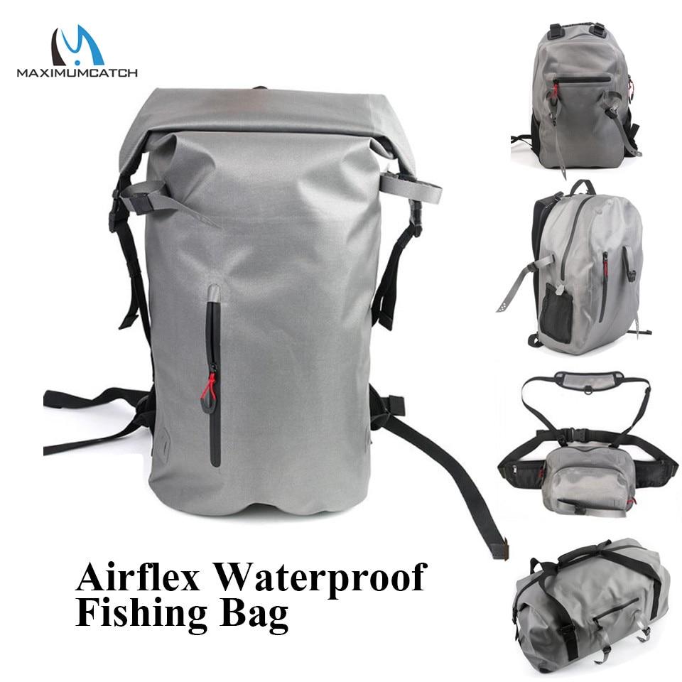 Maximumcatch Airflex 100% Waterproof backpack/duffel bag/Waist bag Polyurethane Fishing Bag