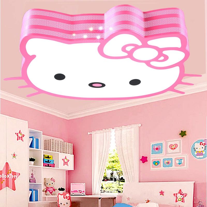 Fashion led cartoon ceiling lights lovely children's bedroom lamp Hello Kitty kindergarten lamps