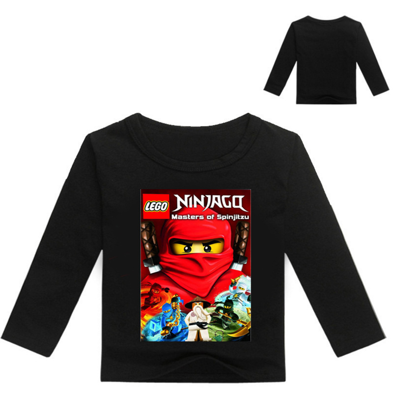 2018 Boys T Shirt Legoe T-shirt Baby Ninjago Boy Tshirt long Sleeves Children Summer Clothes Toddler Boy tops tees 3-16Years red lace details basic long sleeves t shirt