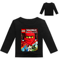 2018 garçons T Shirt Legoe T-shirt bébé Ninjago garçon T-shirt manches longues enfants vêtements d'été enfant en bas âge T-Shirt pour garçon t-shirts 3-16years