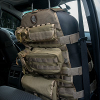 OneTigris Tactical Molle 600D Nylon Car Seat Covers W 6 Pouches For Front Seat Chair