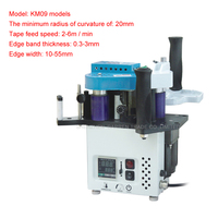 KM09 Manual Egde Banding Machine With Speed Control Model Woodworking Portable Mini Compact Handheld Bander Machine