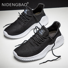 цена на Men Running Shoes High Quality Mesh Breathable Lightweight Sneakers Male Outdoor Athletic Walking Jogging Sports Footwear