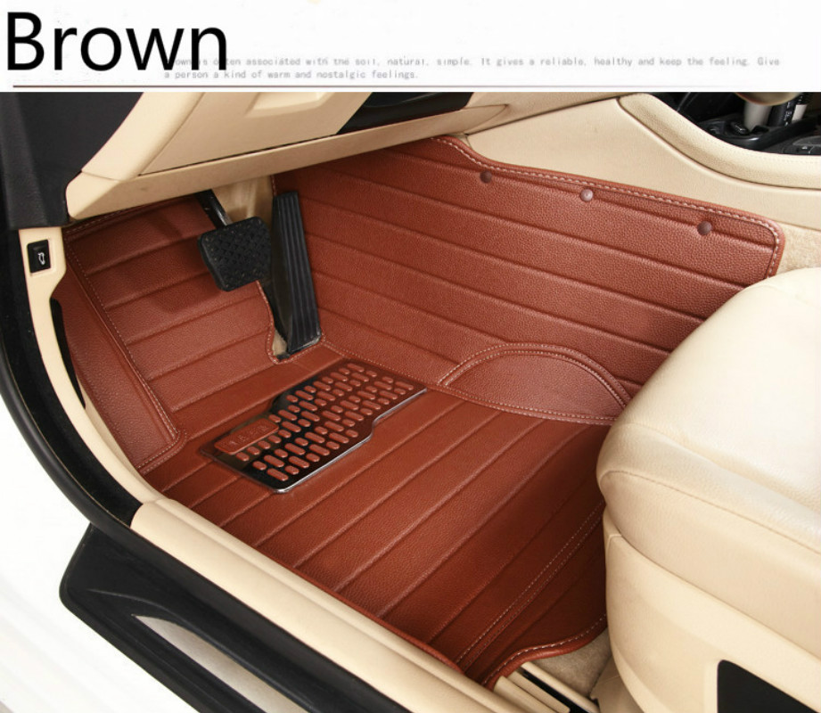 All Surrounded Durable Waterproof Carpets Special Car Floor Mats For SMART FORTWO FORFOUR Most Models