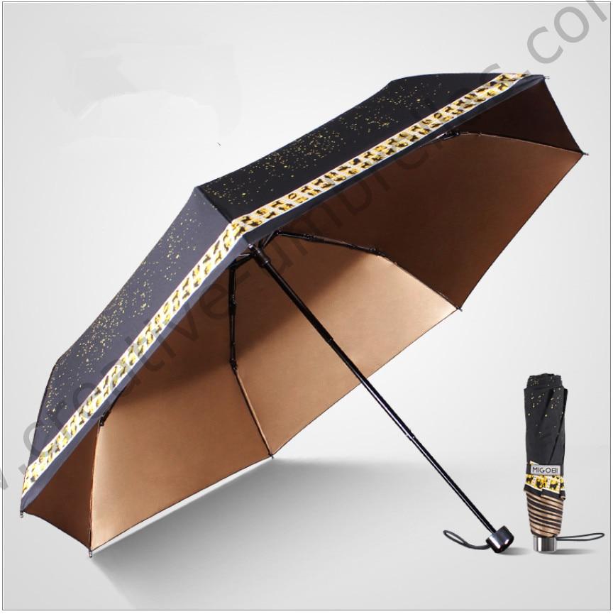 Anti-tonnerre en fiber de verre coupe-vent 5 fois couleur revêtement anti-UV parasol poche Douze constellations numérique 3D impression parapluie