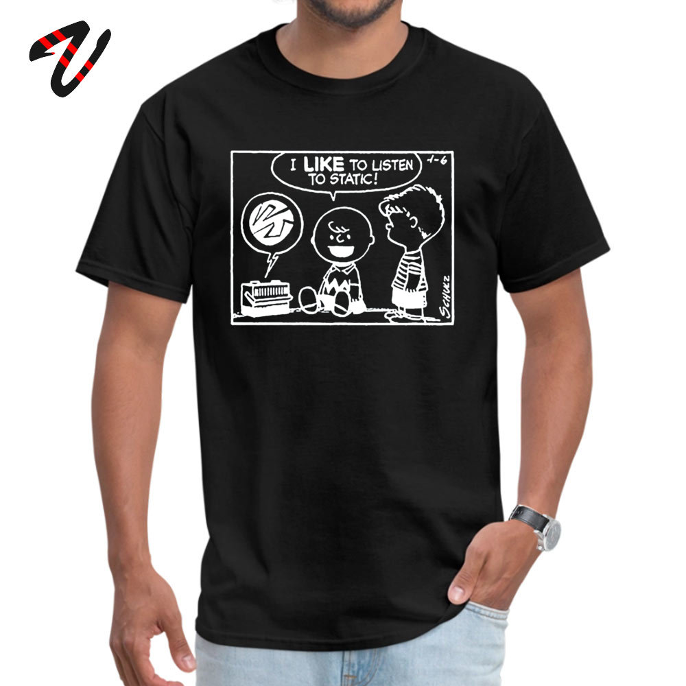 Casual Peanuts Static Crew Neck T-Shirt Summer Fall Tops & Tees Hiphop Sleeve for Men Fashionable Jurassic Park Fabric Tshirts