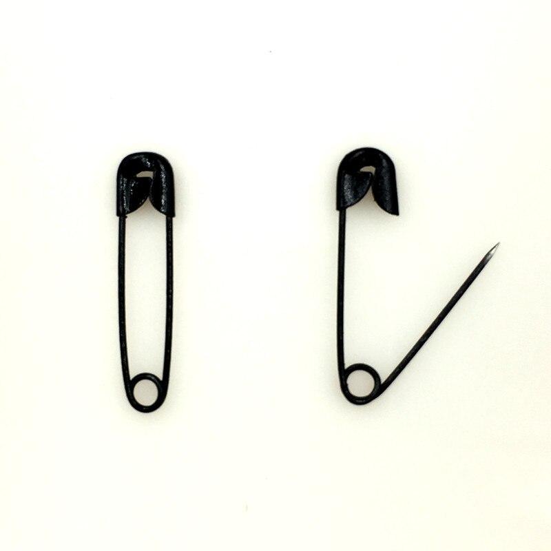 500Pcs DIY Black Metal Safety Pins Brooches Crafts Scrapbook Sewing Making 19x4.5mm