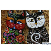 5D Diy Diamond Painting Lover Cat Mosaic Blossom 3D Embroidery Cross Stitch Home Decor Full Square Resin Anomals