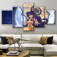 Frame 5 Panel Canvas Painting Sailor Moon Anime Girl Poster Paintings on Wall Art for Home Decorations Decor Artwork