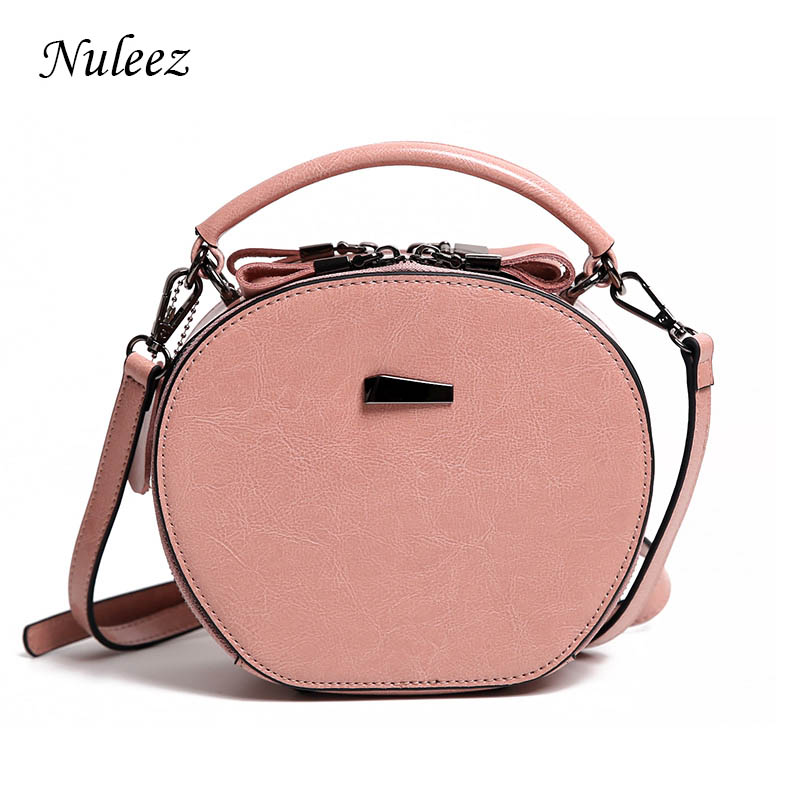 adf4fb34ab56 Nuleez genuine leather women apple bag oil waxy silly bag fashion bag 2018  summer new coming
