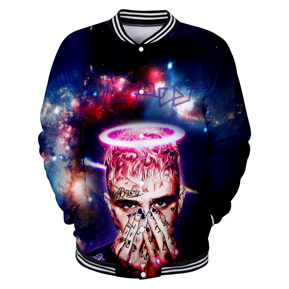 3D Lil Peep Casual Long Sleeve Baseball Jacket XXS To 4XL Men/women Clothes Hip Hop Kpop Print Tops