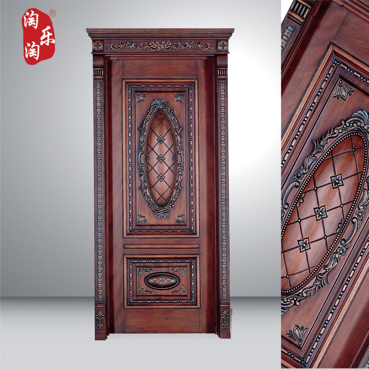 Interior wooden door - Wood Doors Interior Door Set Oak Door Ym016