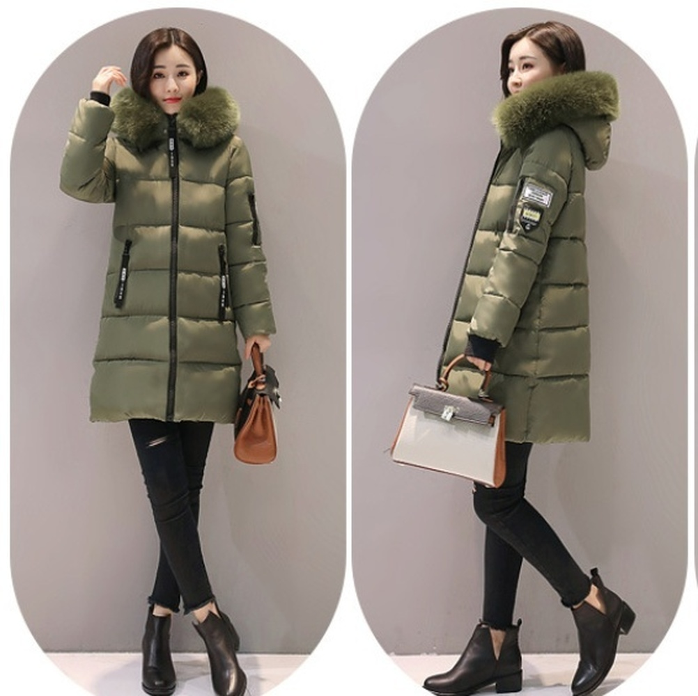 ZOGAA 2019 Women's Hooded Coat Warm   Parkas   Winter Long Slim Cotton Padded Jacket Windbreaker Solid Color Plus Size Overcoat