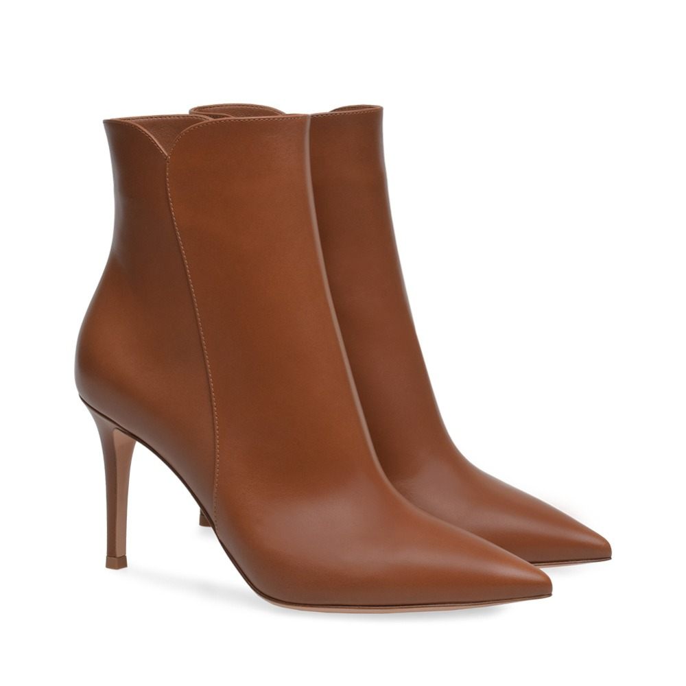 Pointed Toe High Heel Boots PU Leather Short Ankle Boots for Women Sexy High Heel Women Boots Big Size women ankle boots pu super high heel pointed toe boots winter autumn boots warm fur big size square heel ankle boots