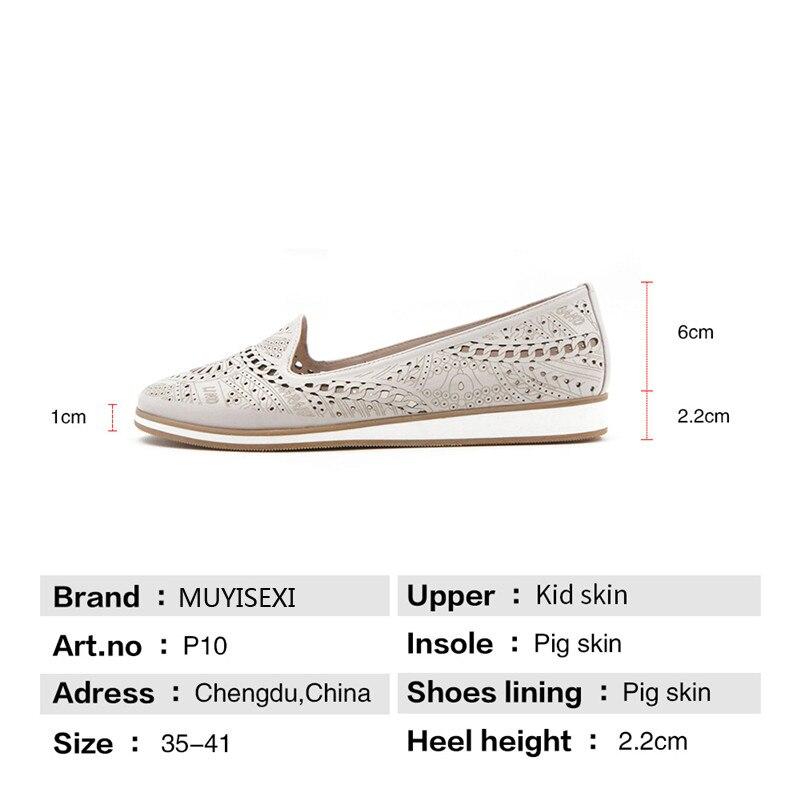Creux Glissement Rond Sur Taille Doux Loisirs Russie Bout Véritable En D'été Plein Chaussures Casual Lid027 Muyisexi Beige Cuir Ressort p1Xw5gxq
