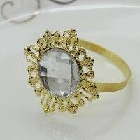 12pcs/set  Free shipping Gold napkin ring napkin buckle forServiette Holder wedding dinner decoration factory