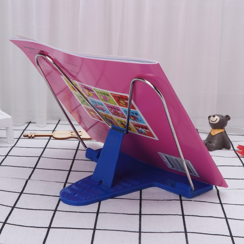 New Adjustable Angle Metal Book Stand Fordable Portable Document Book-Reading Holder
