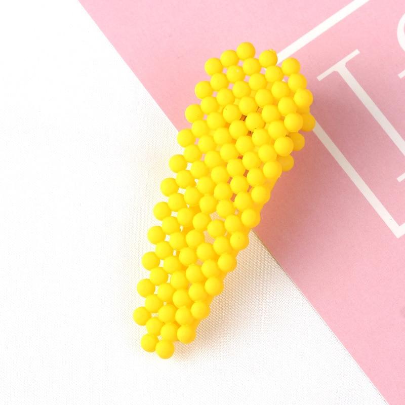 Hairpin lado clipe hairpin da menina Coreano menina doce cor de verão bonito imitação de pérolas do sexo feminino feminino hairpin artesanal cabelo accessori