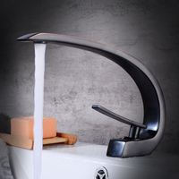 AUSWIND Antique Black brass Bathroom Desk Under Basin Single Hole Faucet Washbasin Bowl Cold And Hot Ceramic Valve Core Faucet