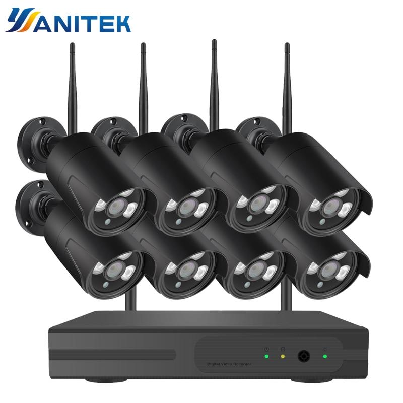 8CH 1080P HD Wifi NVR Kit CCTV Camera System 2MP Waterproof Wireless Security Camera System 8