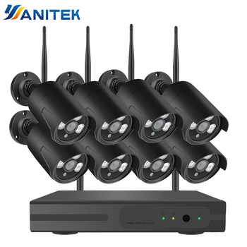 8CH 1080P HD Wifi NVR Kit CCTV Camera System 2MP Waterproof Wireless Security Camera System 8 Cameras Surveillance Kit P2P - DISCOUNT ITEM  20% OFF All Category