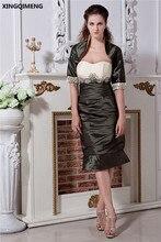 Sexy Vintage Sirena Vestidos de Cóctel Con la Chaqueta Elegante Hermoso Vestido de Cóctel Corto Vestidos Formales Del Partido Del Vestido