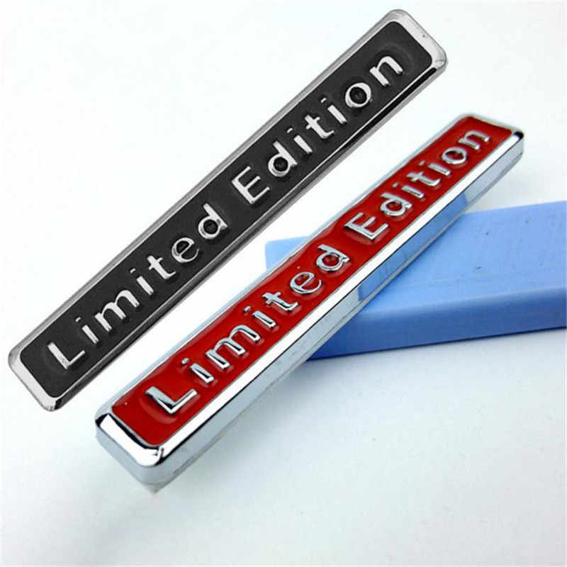 Black/red 3D Metal Limited Edition Badge Universal Car Decal Sticker For Car Styling