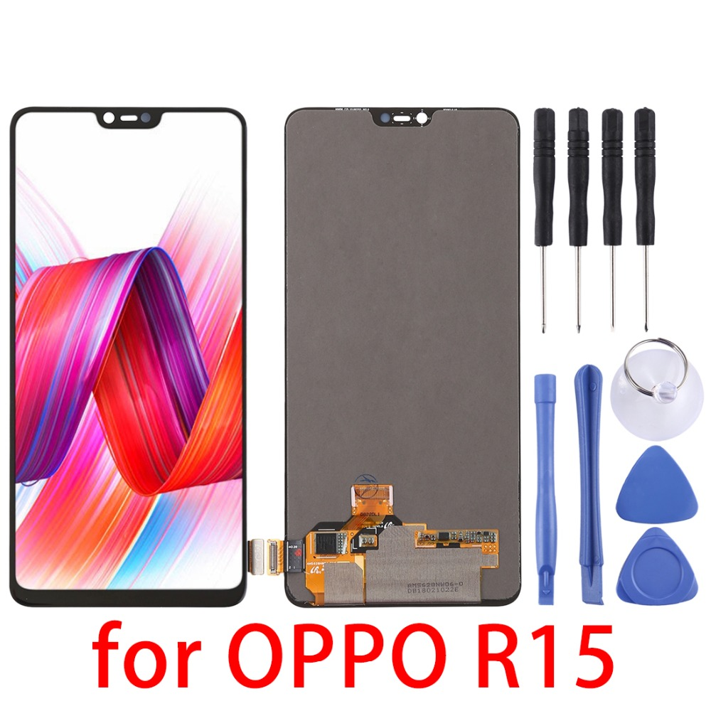 6.3for OPPO R15 LCD Screen and Digitizer Full Assembly for OPPO R15 Replacement repair parts6.3for OPPO R15 LCD Screen and Digitizer Full Assembly for OPPO R15 Replacement repair parts